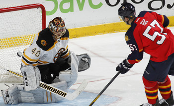 Rask can cover quite a bit of the net when he dons his gear.