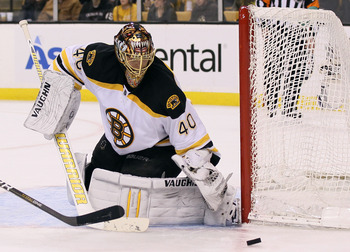 Rask knows how to use his quick glove hand superbly.