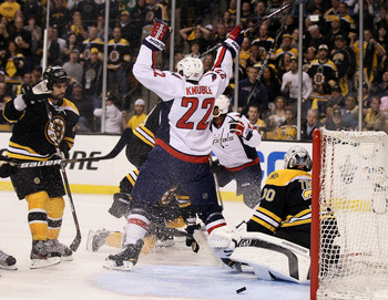 Tim Thomas merely skated to the Bruins bench after the Capitals won the 7th game in overtime.