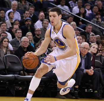 Klay Thompson's emergence last season means Golden State will start next season with only one starting position in question.