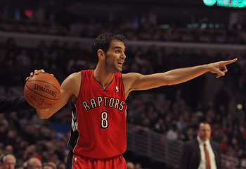 Raptors' point guard Jose Calderon could guide the team into the future, or be dealt.