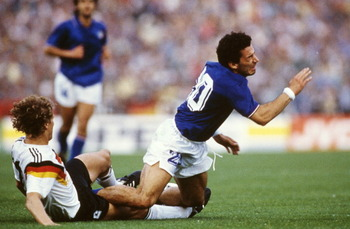 West Germany vs Italy in Euro Cup
