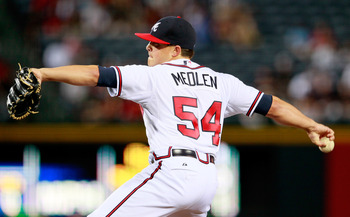 Kris Medlen does a great job of limiting walks.