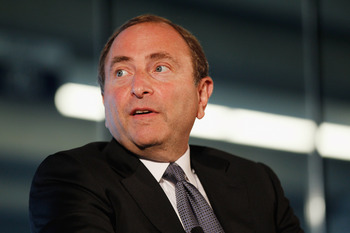 NHL commissioner Gary Bettman wants a new home for the Islanders.