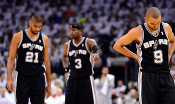 Tony Parker and his teammates were not pleased with how their season ended.
