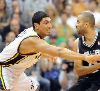 Enes Kanter is one of several promising young big men the Jazz have on their roster.