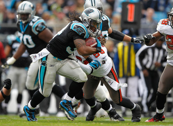 DeAngelo Williams will rush for over 1,000 yards in 2012.