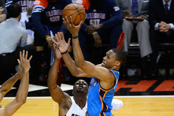The Thunder play a fast paced style of basketball, but Perkins is not that fast.
