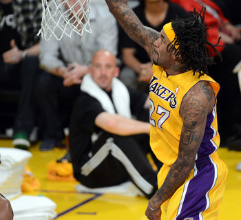 The Lakers Jordan Hill is a young athletic big man, who is also a free agent.
