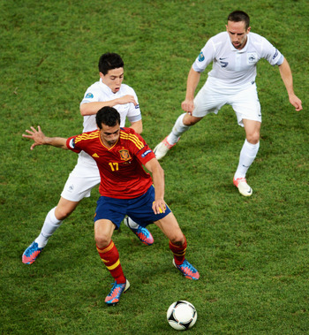 Spain Rightback Alvaro Arbeloa Bamboozles France