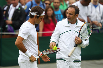 Federer with current coach Paul Annacone