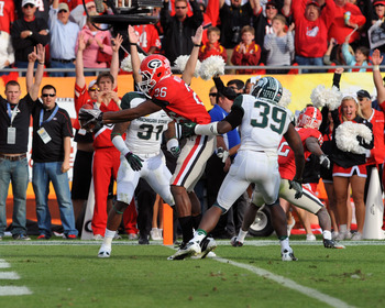 Georgia coaches are in a tug of war on deciding which side of the ball Mitchell will line up on this season.
