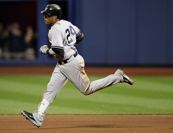NEW YORK, NY - JUNE 24:  Robinson Cano #24 of the New York Yankees rounds the bases after he hit a solo home run in the eighth inning against the New York Mets on June 24, 2012 during interleague play at Citi Field in the Flushing neighborhood of the Quee