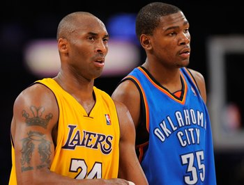 Kobe Bryant will hand the West keys to Kevin Durant for the 2012-13 NBA Season