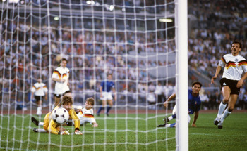 Mancini's goal gave the Italians the lead...for all of three minutes.
