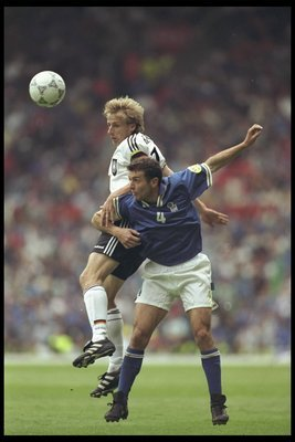 Another scoreless draw was the result in the 1996 European Championship Group Stage meeting.