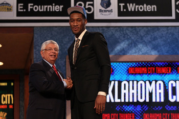 Perry Jones could be the steal of the draft, especially playing with Kevin Durant.
