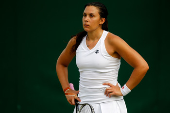 A frustrated Bartoli bowed out in the 2nd Round.