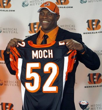 Moch may be turning that jersey in before the summer is through (Photo: Bengals.com).