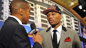 The sixth overall pick, Damian Lillard.