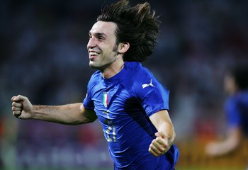 Andrea Pirlo in Italy's victorious 2006 World Cup campaign.