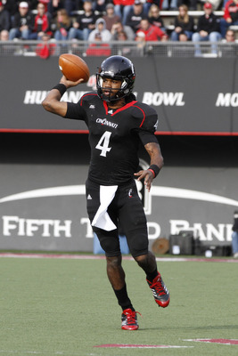 Munchie Legaux is the new quarterback for Cincinnati.