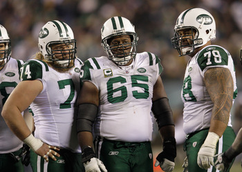 Nick Mangold, Brandon Moore, Wayne Hunter