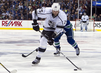 Dustin Penner won a Stanley Cup last season with the Kings and gets one more year to prove his worth.