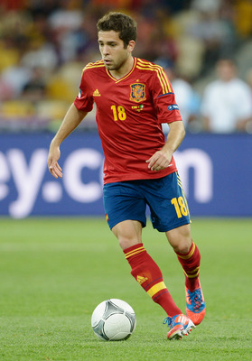 Outside back Jordi Alba