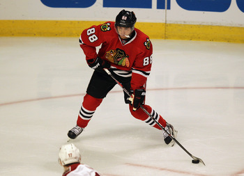Patrick Kane scored the Stanley Cup-winning goal less than three years after he was drafted in 2007.