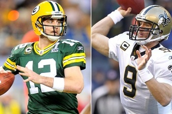 Brees and Rodgers front the two best QB situations in the NFL. thefantasyprofessor.com