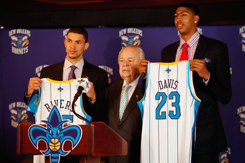 First Round Picks Austin Rivers (left) and Anthony Davis (right)