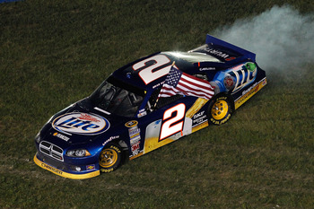 Brad Keselowski won for the third time in 2012 Saturday night