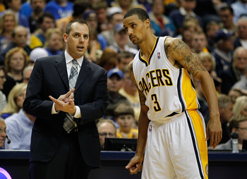 Indianapolis native George Hill will likely be Head Coach Frank Vogel's starting Point Guard next season.