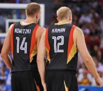 Dirk Nowitski and Chris Kaman Have Played Together for Germany