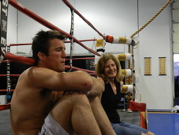 Chael Sonnen with his mother. Credit: Sherdog.net