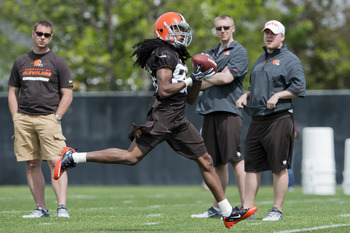 Browns rookie 4th round selection Travis Benjamin.
