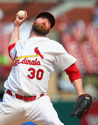ST. LOUIS, MO - JULY 1: Reliever Jason Motte #30 of the St. Louis Cardinals pitches against the Pittsburgh Pirates at Busch Stadium on July 1, 2012 in St. Louis, Missouri.  (Photo by Dilip Vishwanat/Getty Images)