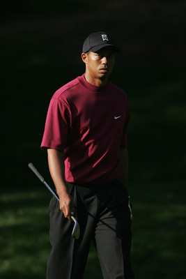 Tiger Woods at the 2004 Target World Challenge. Woods only won one official event on Tour this year.
