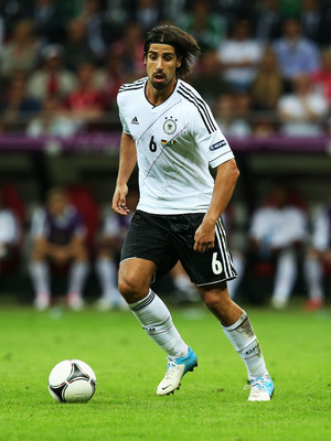 WARSAW, POLAND - JUNE 28: Sami Khedira of Germany during the UEFA EURO 2012 semi final match between Germany and Italy at National Stadium on June 28, 2012 in Warsaw, Poland.  (Photo by Alex Grimm/Getty Images)