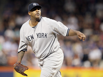 CC Sabathia recently landed on the DL with a groin injury.
