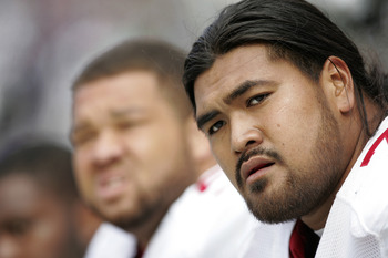 Iupati (right) is on his way to becoming one of the NFL's top interior offensive linemen.