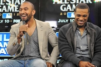 Matt Kemp (L) and Robinson Cano (R); Photo via the New York Daily News