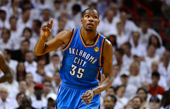 Durant in the 2012 NBA Finals.