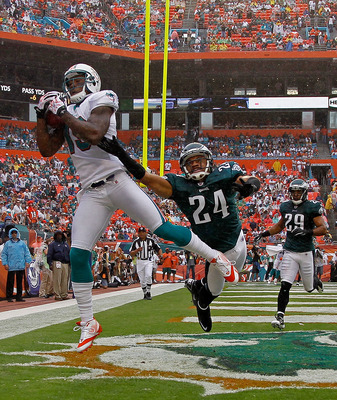 Asomugha getting beat for a touchdown in Miami.