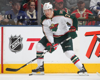 Johnson played well in his first full NHL season with the Wild notching 26 points