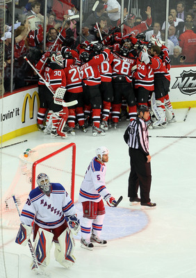 The Rangers are pursuing a goal scorer like Rick Nash to avoid painful scenes like this.