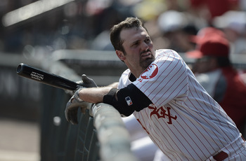 CHICAGO, IL - JUNE 24: Paul Konerko #14 of the Chicago White Sox looks into the stands during an interleague game against the Milwaukee Brewers at U.S. Cellular Field on June 24, 2012 in Chicago, Illinois. The White Sox defeated the Brewers 1-0 in 10 inni
