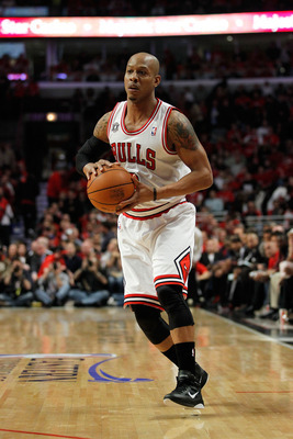 CHICAGO, IL - MAY 15:  Keith Bogans #6 of the Chicago Bulls looks to pass against the Miami Heat in Game One of the Eastern Conference Finals during the 2011 NBA Playoffs on May 15, 2011 at the United Center in Chicago, Illinois. The Bulls won 103-82. NOT