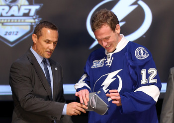 Bolts general manager Steve Yzerman drafted Slater Koekkoek with the 10th pick in 2012.